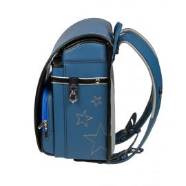 Школьный ранец с ортопедической спинкой Randoseru Hikari Синий лицевой замок (арт CL021)