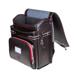 Школьный ранец с ортопедической спинкой Randoseru Hikari Черный с красным  (арт CL050)