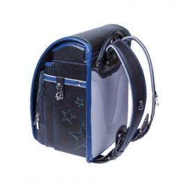 Школьный ранец с ортопедической спинкой Randoseru Hikari Черный лицевой замок (арт CL022)