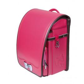 Школьный ранец с ортопедической спинкой Randoseru Hikari Розовый лицевой замок (арт CL023)